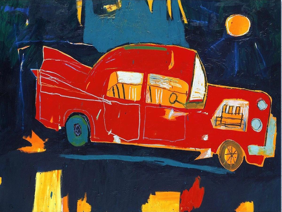 jean-michel-basquiat-auto-rossa-1984